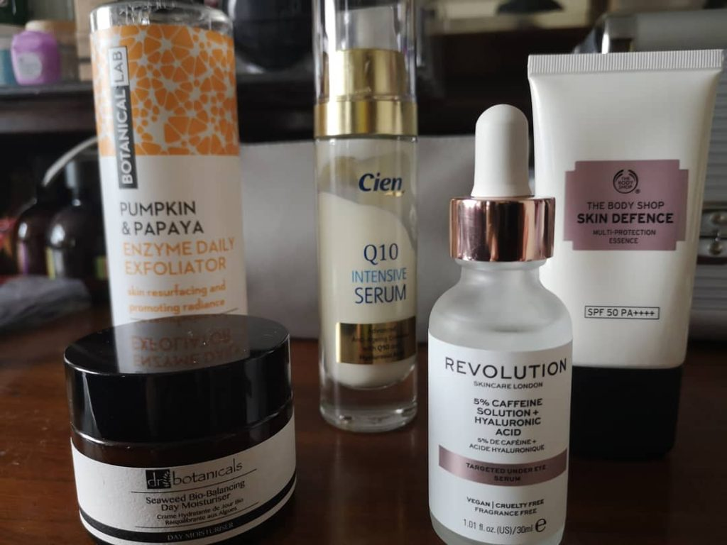 Lockdown skincare products